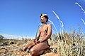 Arri Raats, Kalahari Khomani San Bushman, Boesmansrus camp, Northern Cape, South Africa (20355473519).jpg