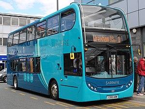 Arriva UK Bus - Sapphire branded Arriva Buses Wales Alexander Dennis Enviro 400 in Wrexham in May 2013