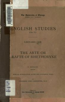 Arte or Crafte of Rhethoryke - 1899.djvu