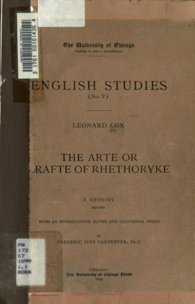 File:Arte or Crafte of Rhethoryke - 1899.djvu