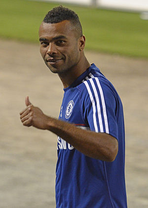 Ashley Cole - Cole on his way to the locker room following a friendly preseason game in Washington D.C. vs. A.S. Roma (August 2013)
