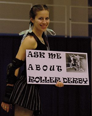 History of roller derby - A Blue Ridge Rollergirls skater offers help to novice fans. (Asheville, North Carolina).