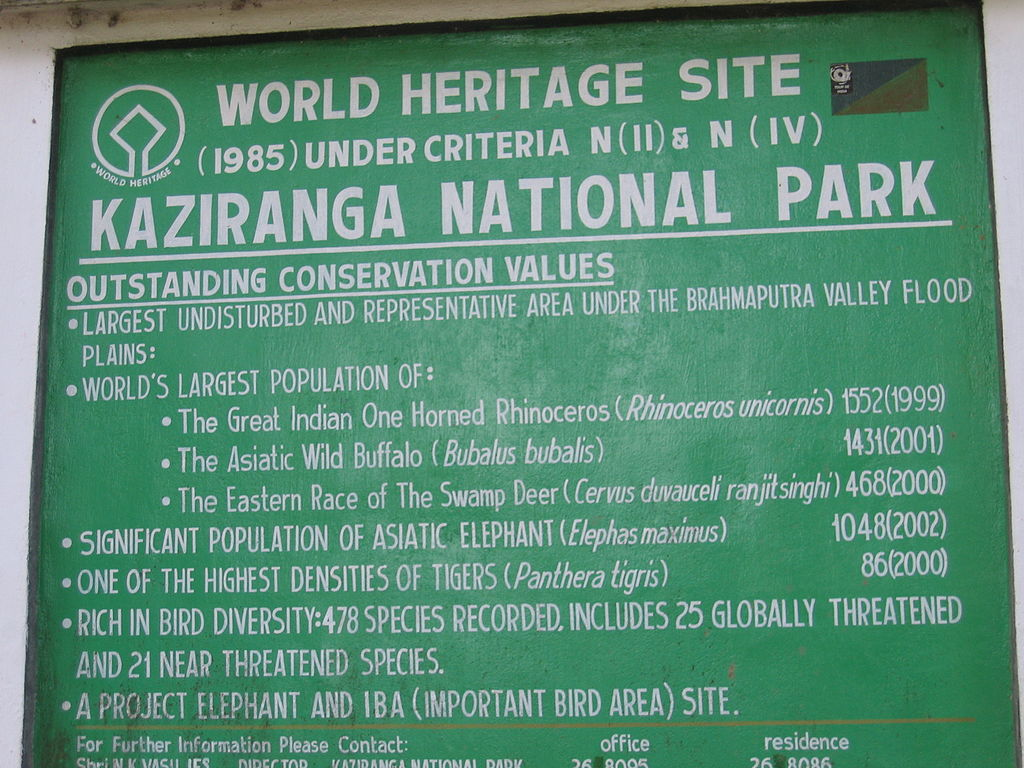 A board proclaiming the biological heritage of the park. Image: Peter Andersen/Wikimedia [Licensed under CC BY 2.5]