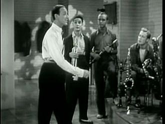Hermes Pan - Astaire and Pan (standing third from left) in Second Chorus (1940)