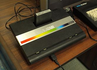 "Atari 7800 - Atari 7800 with ""Donkey Kong Junior"" cartridge"