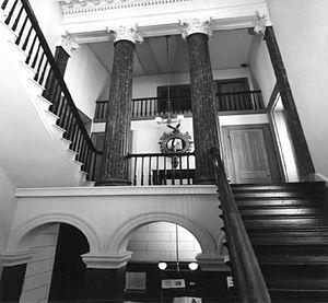 Athenaeum of Philadelphia - Staircase in the Athenaeum