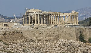 Attica 06-13 Athens 57 View from Philopappos - Parthenon.jpg