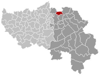 Aubel - Image: Aubel Liège Belgium Map
