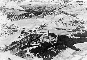 Augusta Victoria Hospital - Augusta Victoria from the air 1948