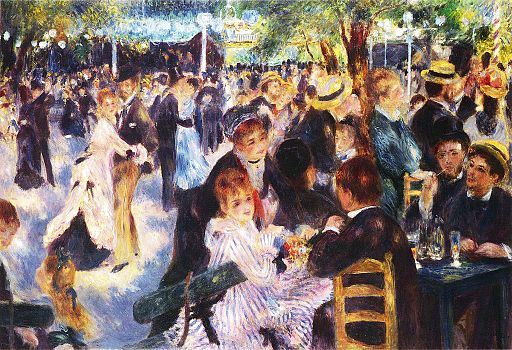 Auguste Renoir - Dance at Le Moulin de la Galette (ex Whitney collection)