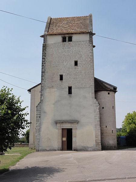 Aulnois sous Vertuzey (Meuse) Église Saint-Sébastien tour romane