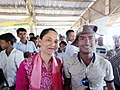 Aung Zaw Hein with MP Rushanara Ali.jpg