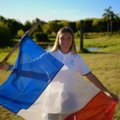 Aurelie godet during opening ceremony, world championship argentina.png