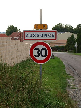 Aussonce - The entrance to the village