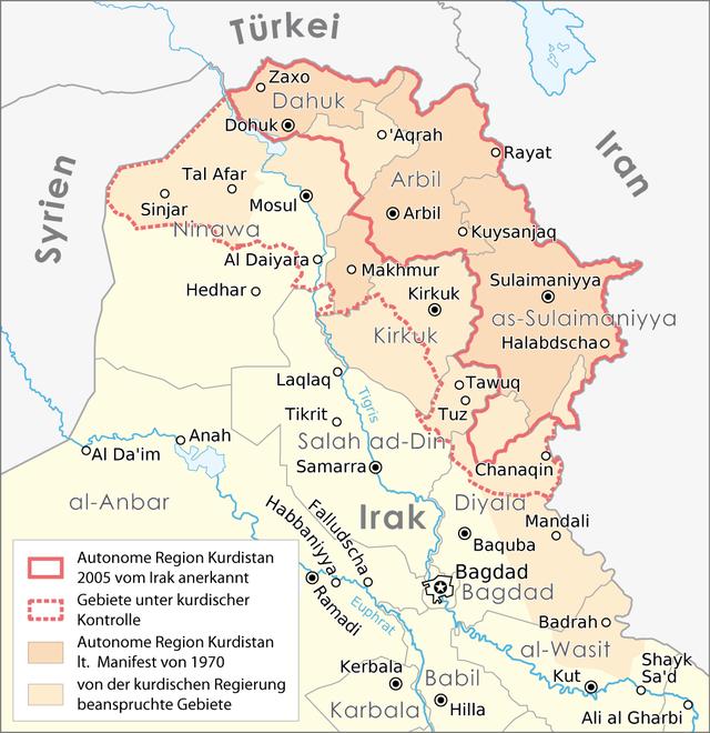 Karte Syrien Irak.Kurdistan Wikiwand