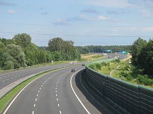 A4 autostrada (Poland) - A4 in Zabrze, opened 2005