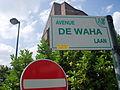 Avenue de Waha plaque.JPG