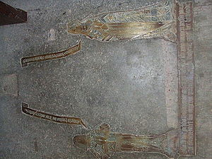 William Askew - Medieval brass of Sir William Ayscough and his lady wife found in Stallingborough church