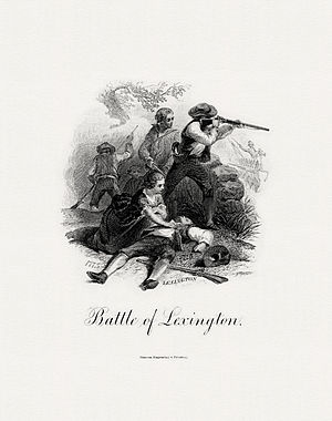 Lexington-Concord Sesquicentennial half dollar - Image: BEP DELNOCE Battle of Lexington (Darley)