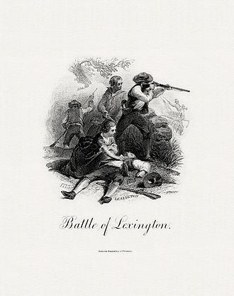 Lexington-Concord Sesquicentennial half dollar - Image: BEP DELNOCE Battle of Lexington (Darley)
