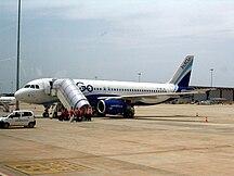 Sân bay quốc tế Kempegowda-Các hãng hàng không và các tuyến điểm-BIAL IndiGo aircraft