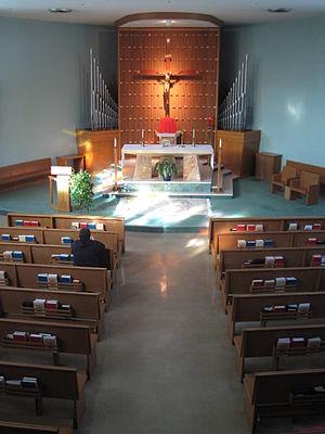 Retreat (spiritual) - An aspiring seminarian on a vocational discernment retreat at Blessed John XXIII National Seminary in Massachusetts