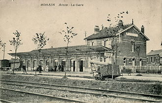 Bohain-en-Vermandois - The station at Bohain early in the 20th century