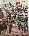 Başkomutanlık Meydan Muharebesi'nde esir alınan Yunan orduları başkomutanı Nikolaos Trikupis, kılıcını Mustafa Kemal Paşa'ya teslim ediyor.jpg