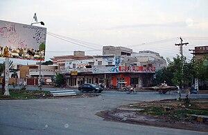 Batala Colony - Image: Babar Chowk, Batala Colony Faisalabad