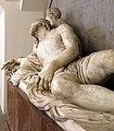 Baccio bandinelli, cristo morto sorretto da un angelo, 1550 ca., 09.jpg