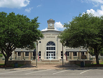 Baldwin County, Alabama - Image: Baldwin County Courthouse Bay Minette June 2013 1