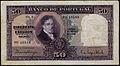 Banco de Portugal 50 Escudos banknote of 1933, Manuel Borges Carneiro..jpg