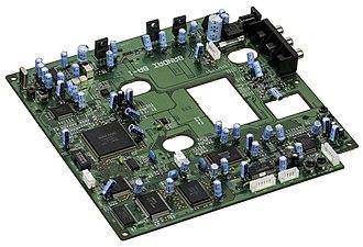 Playdia - The Bandai Playdia motherboard.