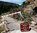 Bandelier National Monument in September 2011 - Cliff Dwellings - closed trail after stop 21.JPG