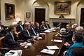 Barack Obama drops by a meeting with Cabinet members, 2012.jpg