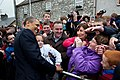 Barack Obama poses for a photograph in Moneygall.jpg