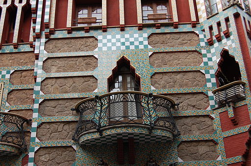 Barcelona, casa Vicens (Antoni Gaudi) balcin