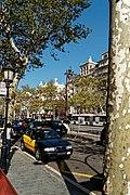 Barcelona - Passeig de Gràcia - View NNW towards Casa Milà 1906-10 Antoni Gaudí.jpg
