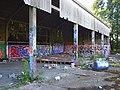 Barn with graffiti, Wokingham - geograph.org.uk - 876501.jpg