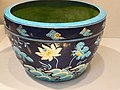 Basin Ming Dynasty Late 15th century Porcelaneous ware with cloisonne-style decoration (1) (1142477414).jpg