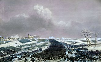Battle of Eylau - Cavalry charge painted by Jean-Antoine-Siméon Fort.