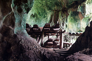 Agop Batu Tulug Caves - The wooden coffins.