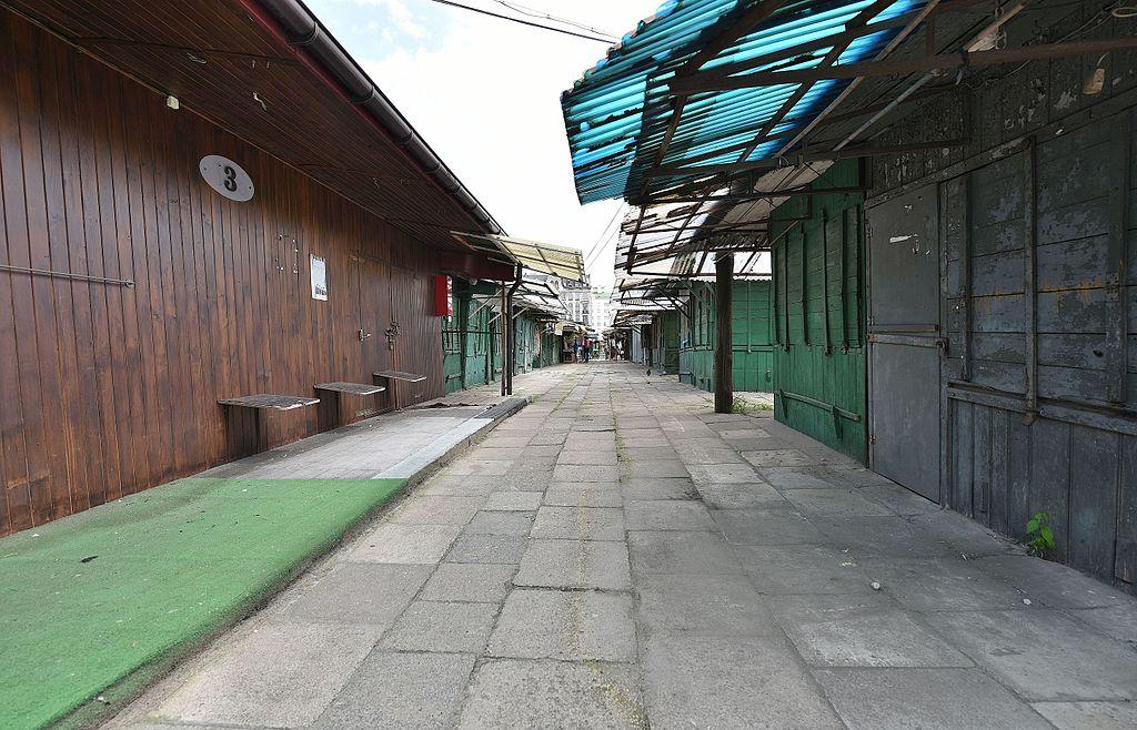 Bazar Różyckiego zamknięte stragany 2016