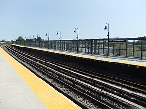 Beach 25th Street (IND Rockaway Line) - North side of the Mott Avenue bound platform