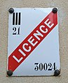 Beaune - Plaque licence III alcool (nov 2018).jpg