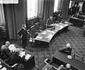 Begroting staatsmijnen Eerste Kamer Minister professor Dr J Zijlstra tijdens v, Bestanddeelnr 910-1612.jpg