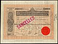 Belfast City & District Water Commissioners, 3% redeemable stock, 1895.jpg
