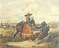 Bellangé H. - Watercolour - La Halte auprès de la Vivandière - ~17.5x21.5cm.jpg
