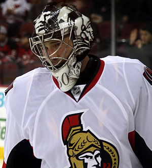 Ben Bishop - Bishop with the Ottawa Senators in 2013