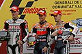 Ben Casey Stoner and Andrea Dovizioso 2011 Valencia.jpg